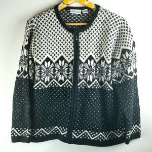 Black Nordic Cardigan Sweater